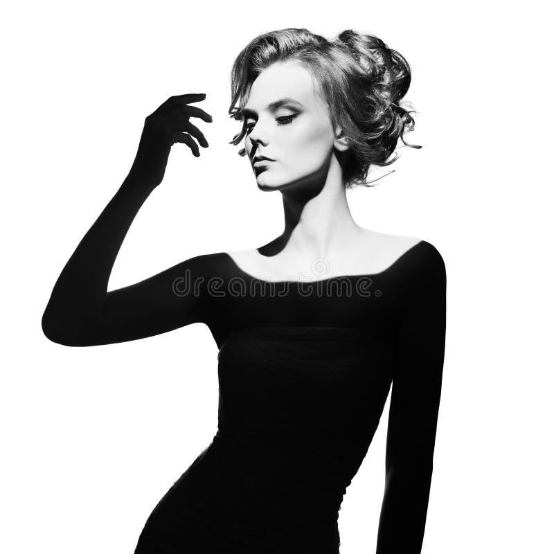 Surrealistisches Porträt junger Dame lizenzfreies stockbild