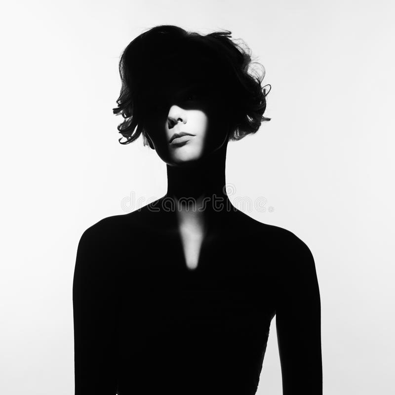 Surrealistisk stående av den unga damen fotografering för bildbyråer