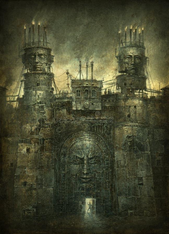 Surrealistyczna brama ilustracji