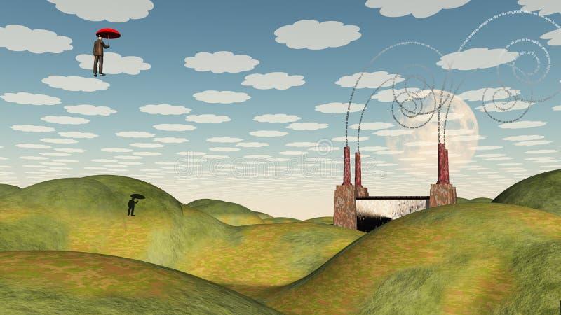Surrealistyczna fabryka ilustracja wektor