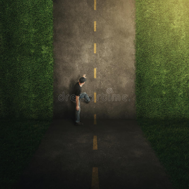 Surrealistyczna pionowo droga. obrazy stock