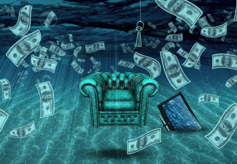 Surrealistyczna Podwodna scena ilustracji