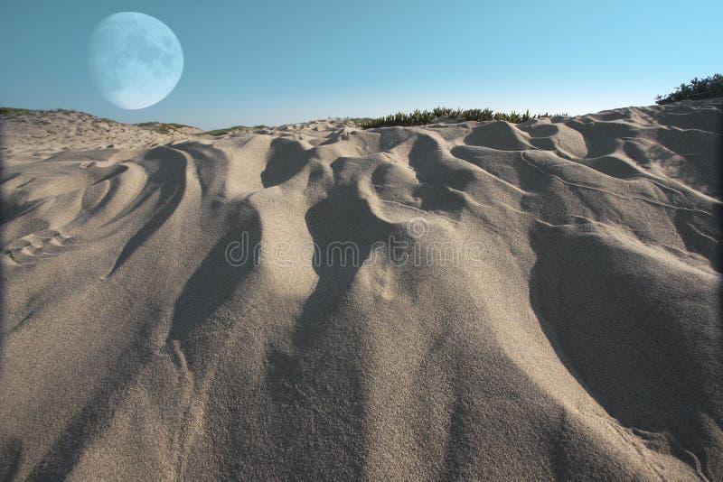 surrealistyczne moonscape fotografia stock