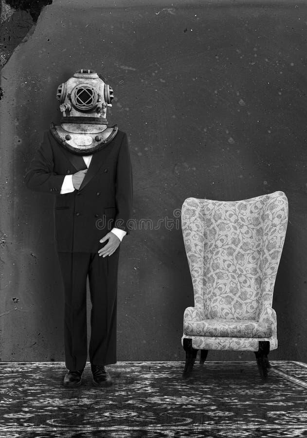 Surrealistycznego rocznika portreta Retro fotografia obraz stock