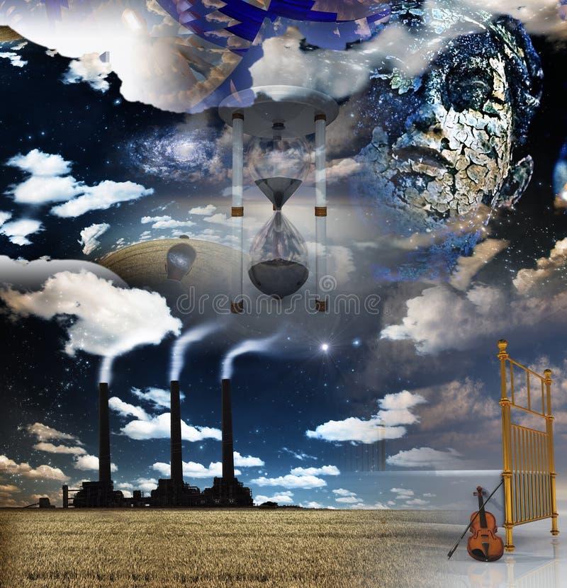 surrealistyczny artystyczny montaż ilustracji