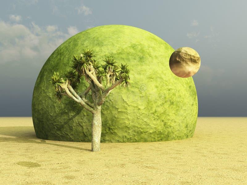 surrealistyczny Joshua pustynny drzewo ilustracji