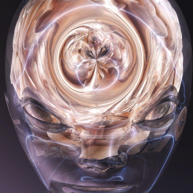 Surrealistyczny ludzki mózg ilustracja wektor