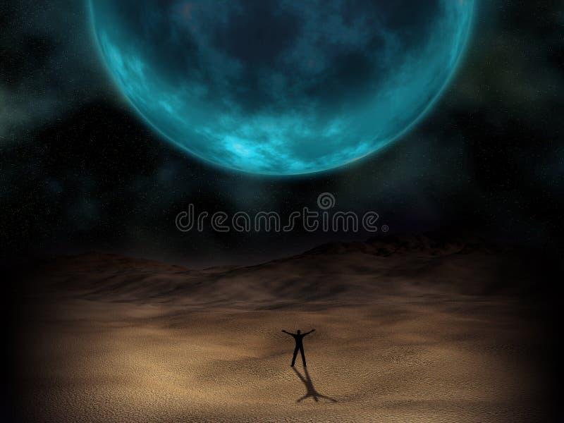 Surrealistyczny planeta wizerunek ilustracja wektor