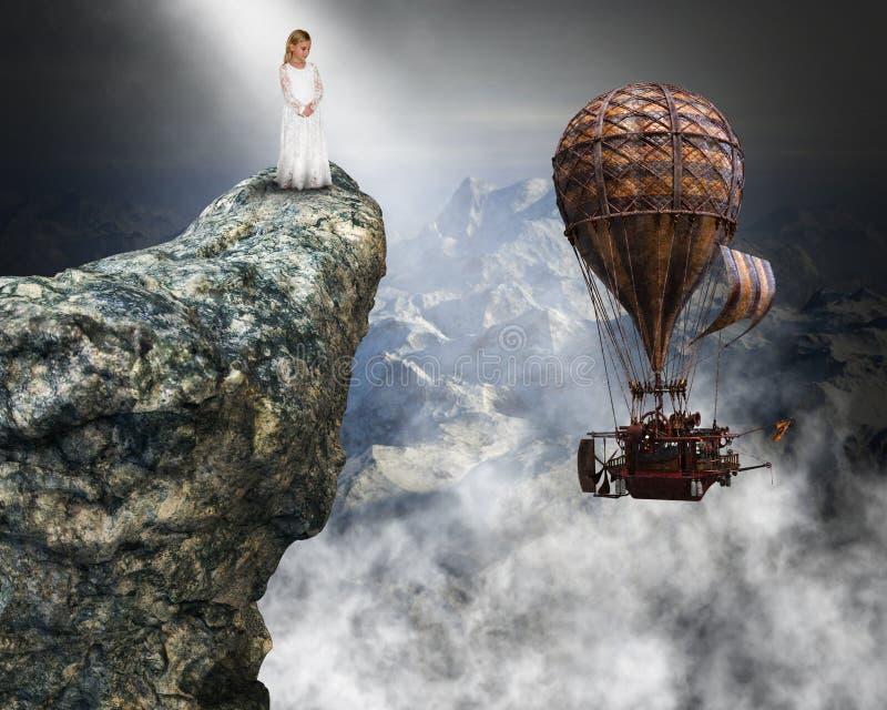 Surrealistyczny Steampunk, pokój, nadzieja, miłość, sprawy duchowe zdjęcie royalty free