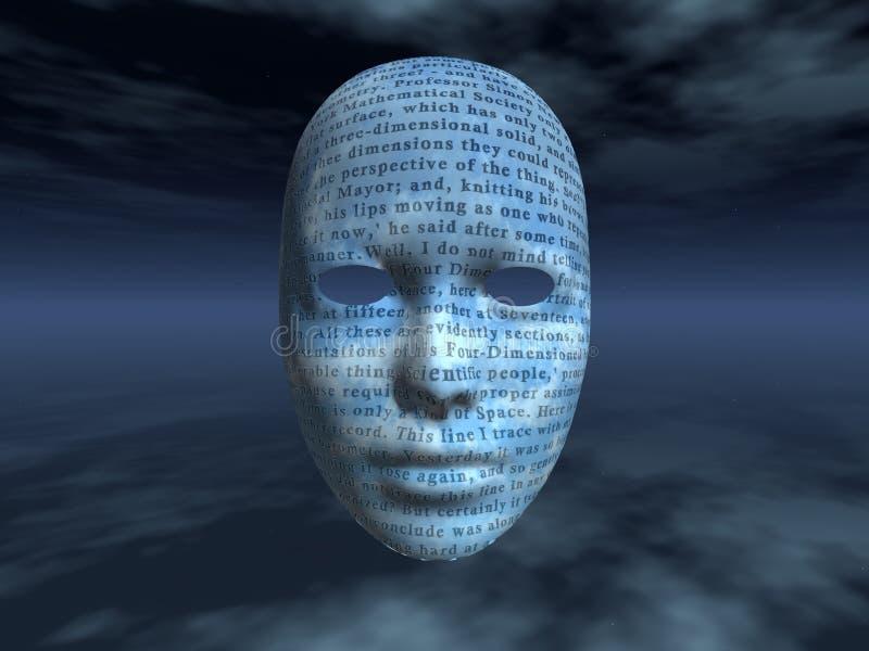 surrealistyczny twarz tekst ilustracja wektor