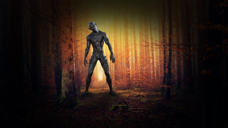 Surrealistyczny Zły potwór, obcy, fantazja, fantastyka naukowa zdjęcia stock