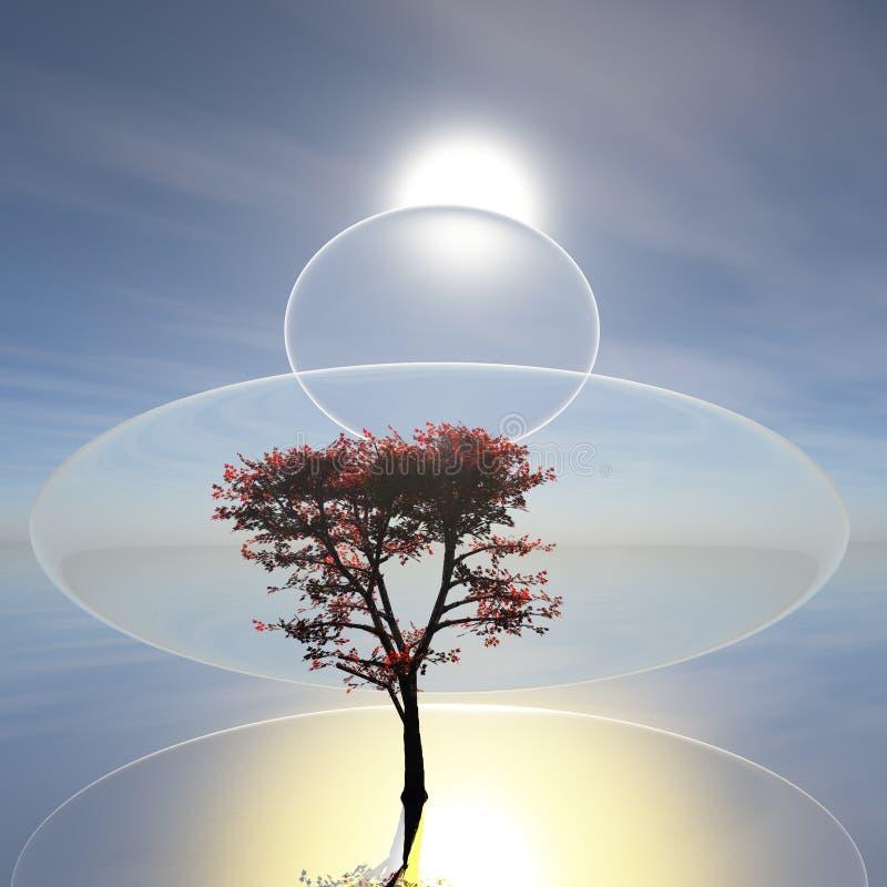 Surrealistyczny Zen horyzont zdjęcia royalty free