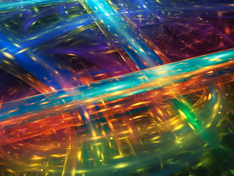 Surreality vibrante visual del fractal de la demostración del caos del partido de la vuelta del sueño artístico brillante creativ ilustración del vector