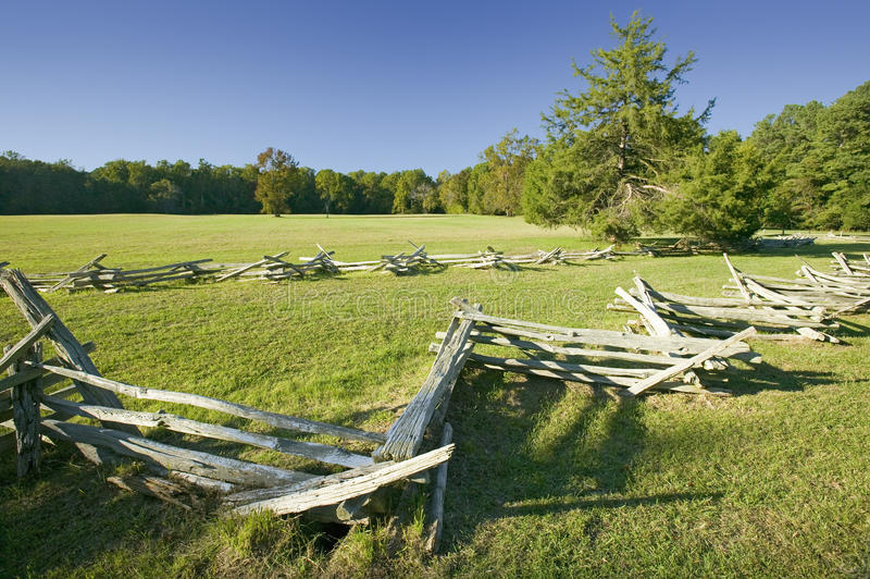 Surrender Field, where Lord Cornwallis surrendered to General George Washington ending the American Revolution, the actual. Surrender spot of 1781, at the royalty free stock images