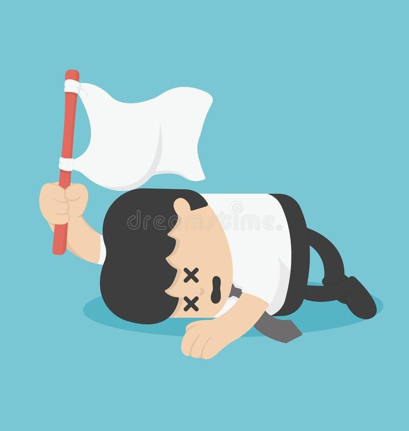 Surrender. Illustration Cartoons concepts . eps10 stock illustration