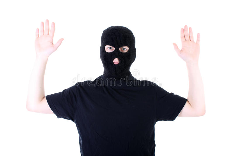 Download The Surrendered Criminal In A Mask Stock Image - Image of burglary, convict: 13614625