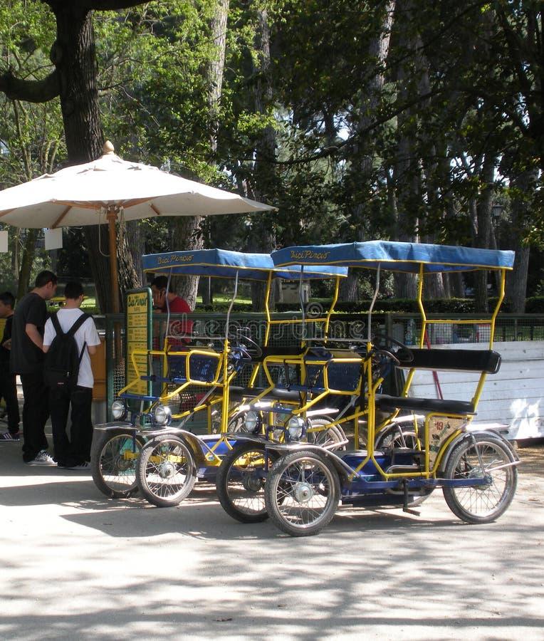 Surrey Bikes for Rent, Villa Borghese, Rome, Italy stock photography
