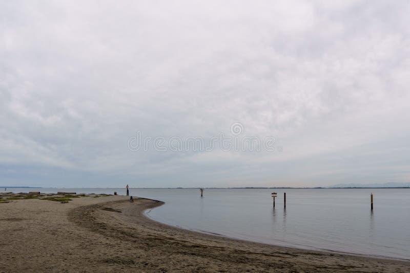SURREY KANADA, Październik, - 27, 2018: Blackie mierzei parka teren przy granicy zatoką zdjęcia royalty free