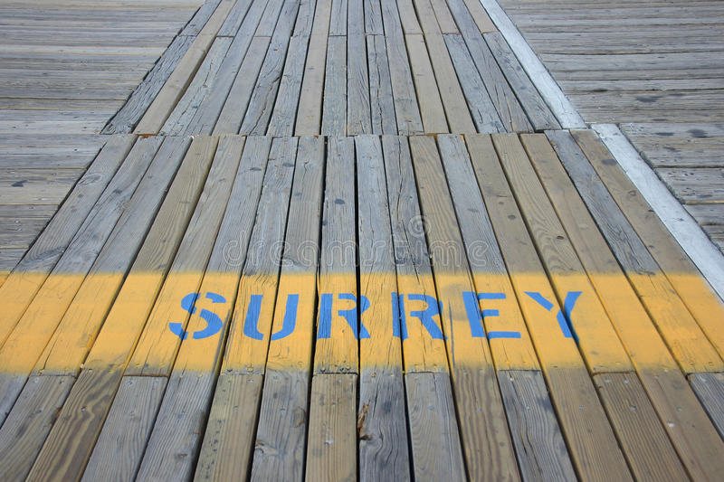 Surrey lane on the boardwalk stock image