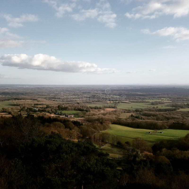 Surrey over blik royalty-vrije stock fotografie