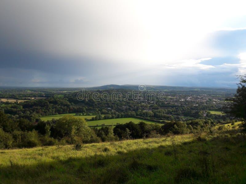 Surrey wzgórzy teren znakomity naturalny piękno 2 zdjęcia royalty free
