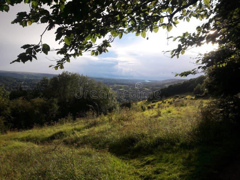 Surrey wzgórzy teren znakomity naturalny piękno obraz stock
