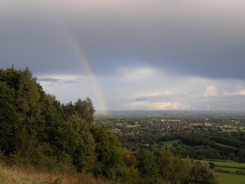 Surrey wzgórzy teren znakomity piękno obraz royalty free