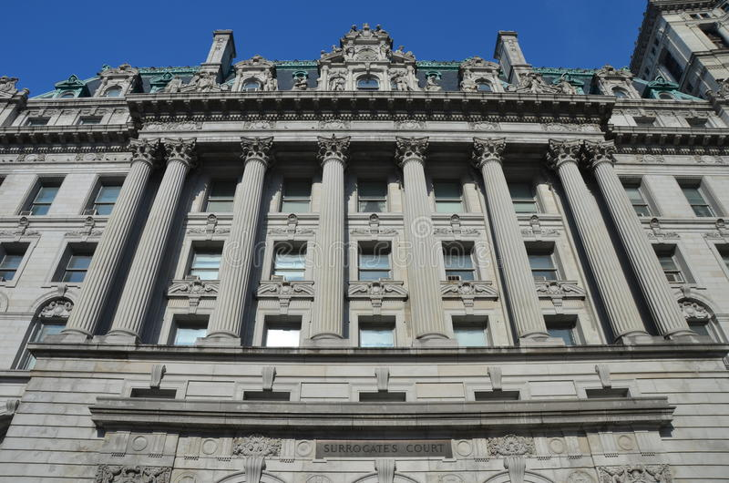 Surrogate's Courthouse, NYC. New York City, United States - Surrogate's Courthouse, also known as the Hall of Records in Lower Manhattan stock photos
