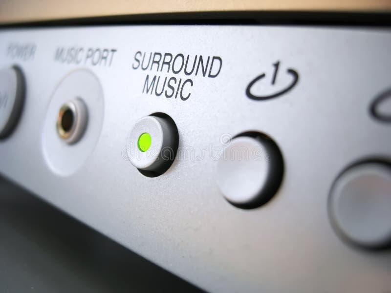 Surround music sound system stock photo