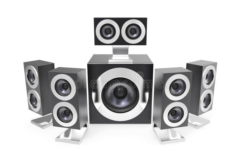 Download Surround speakers stock illustration. Image of theater - 28828796