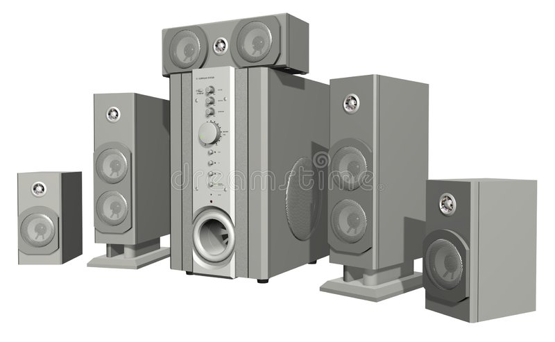 Surround System stock illustration