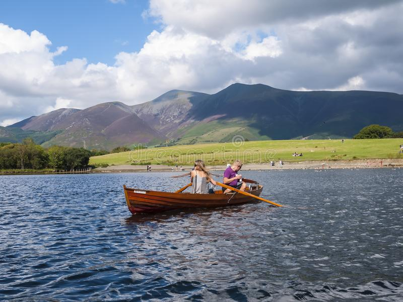 A cruise on Derwentwater is a very special way of discovering the Northern Lake District in Northern England. It is an area of out stock photo