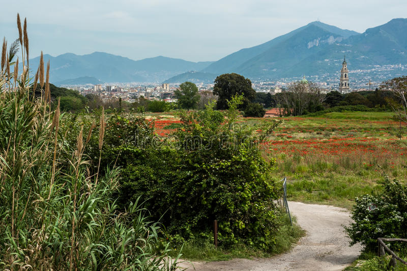 The surrounding area of Pompeii stock photos