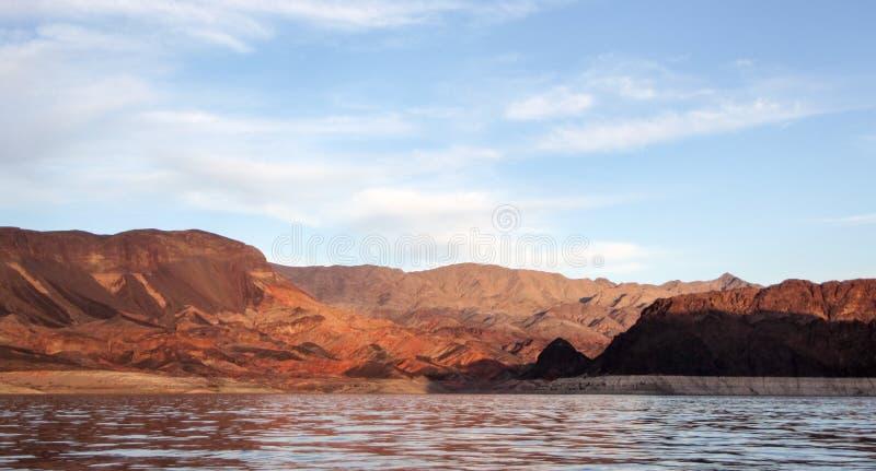 Surrsikt av den Yucaipa dalsolnedgången arkivfoton