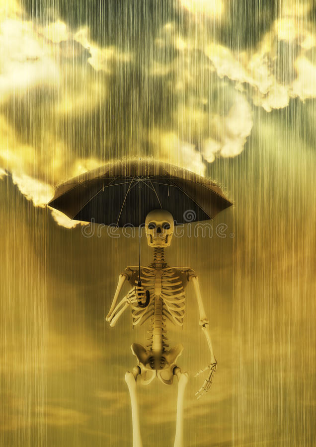 surt regn vektor illustrationer