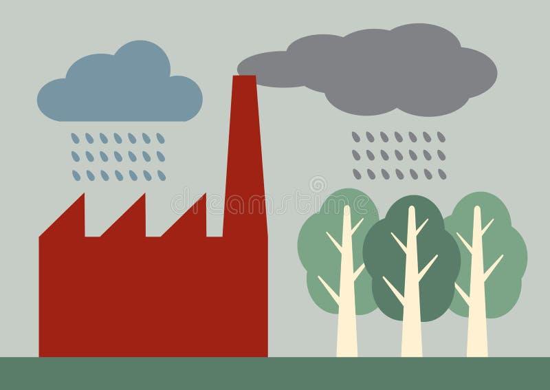 Surt regn royaltyfri illustrationer