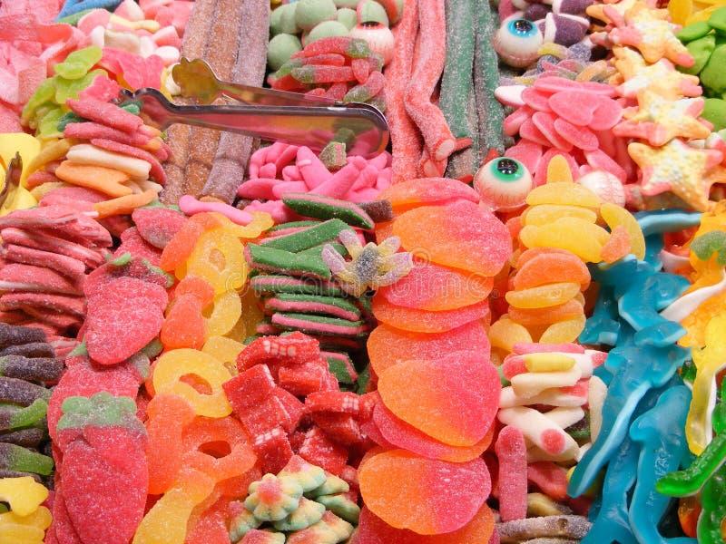 Surtido de caramelos coloridos fotos de archivo