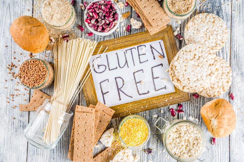 Surtido de comida libre del gluten fotos de archivo libres de regalías