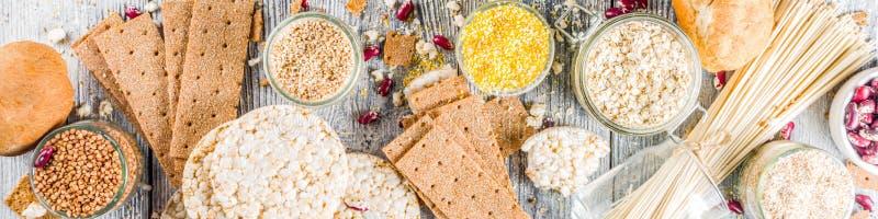 Surtido de comida libre del gluten imagen de archivo