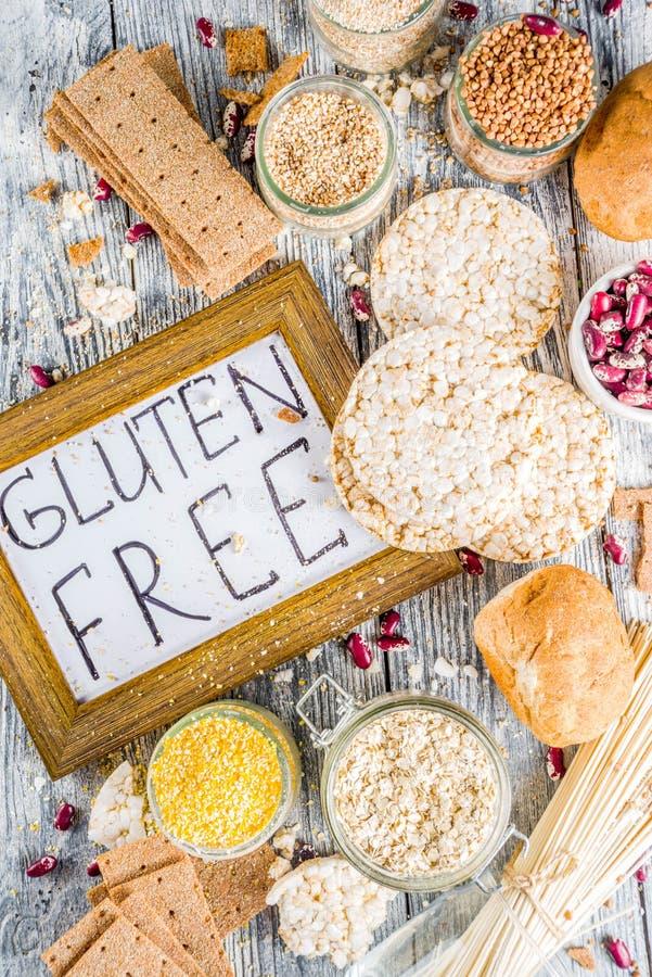 Surtido de comida libre del gluten fotografía de archivo libre de regalías