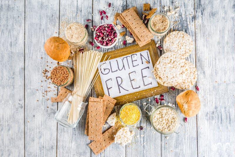 Surtido de comida libre del gluten foto de archivo libre de regalías