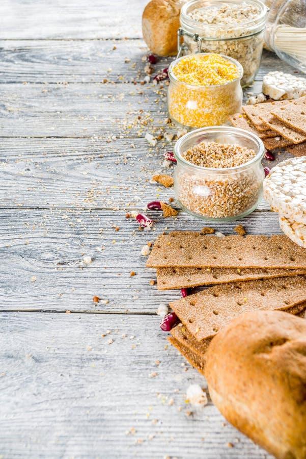 Surtido de comida libre del gluten fotos de archivo