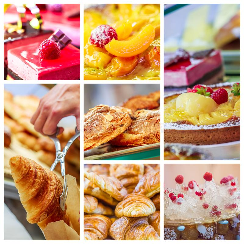 Surtido de pasteles franceses fotos de archivo