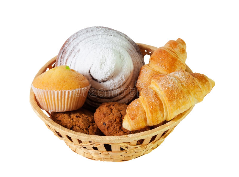 Surtido de pasteles y de galletas fotos de archivo