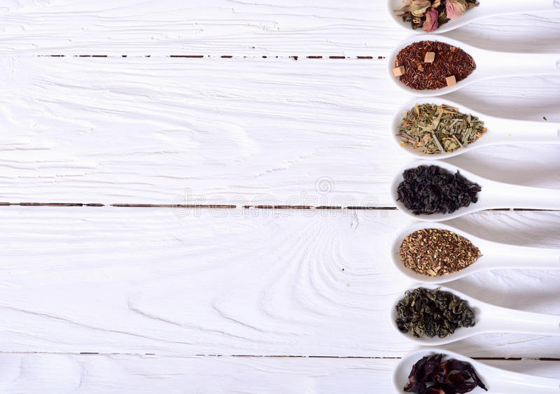 Surtido de té seco imagen de archivo libre de regalías