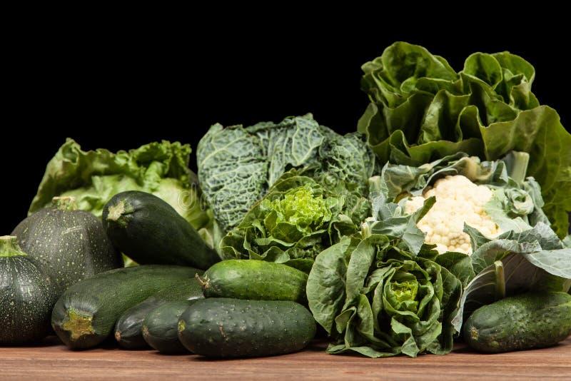Surtido de verduras verdes fotos de archivo libres de regalías