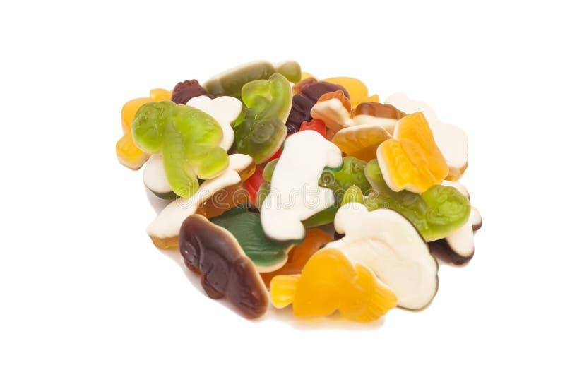 Surtido dulce de caramelos coloridos de la jalea fotografía de archivo libre de regalías