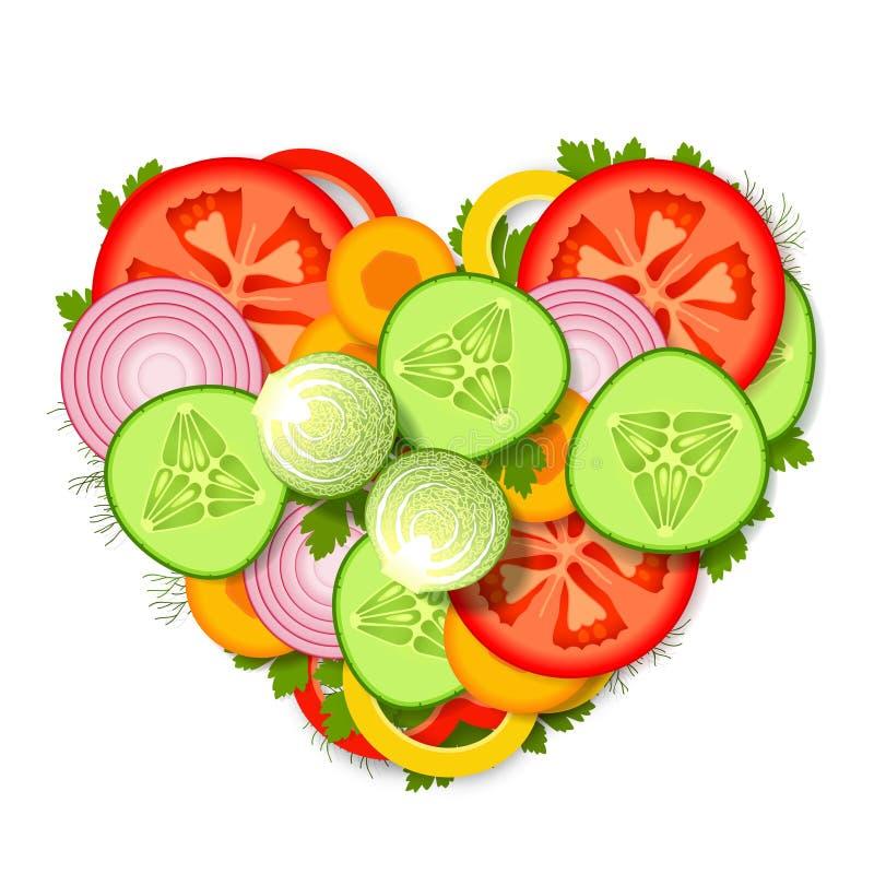 Surtido vegetal stock de ilustración