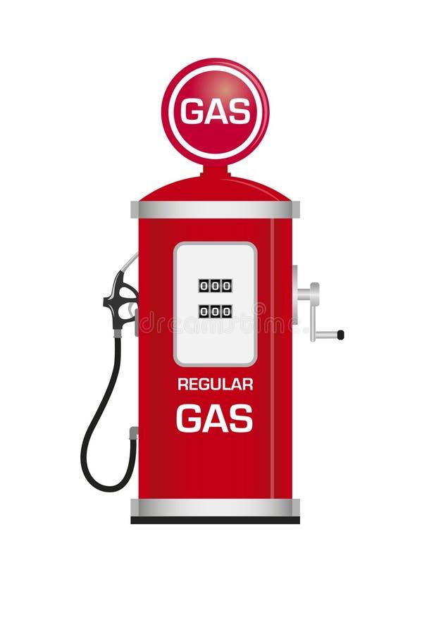 Surtidor de gasolina antiguo stock de ilustración