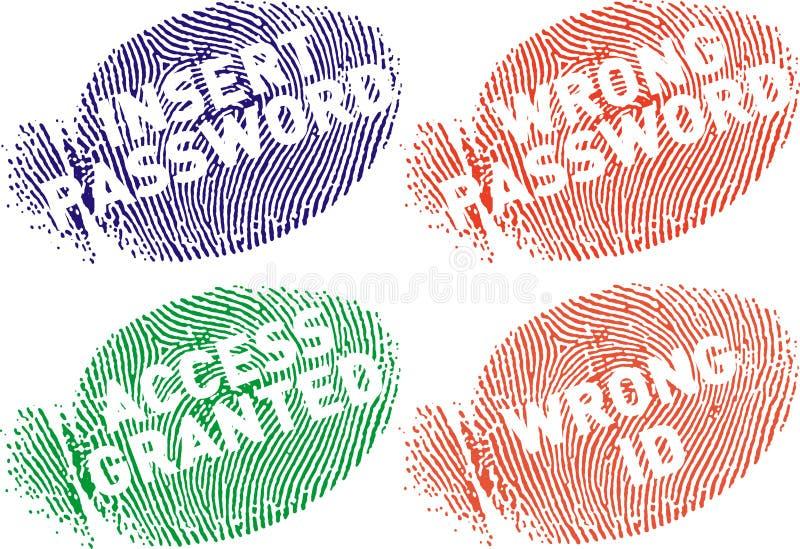 surtidos för mensajes fingerprint7 royaltyfri illustrationer